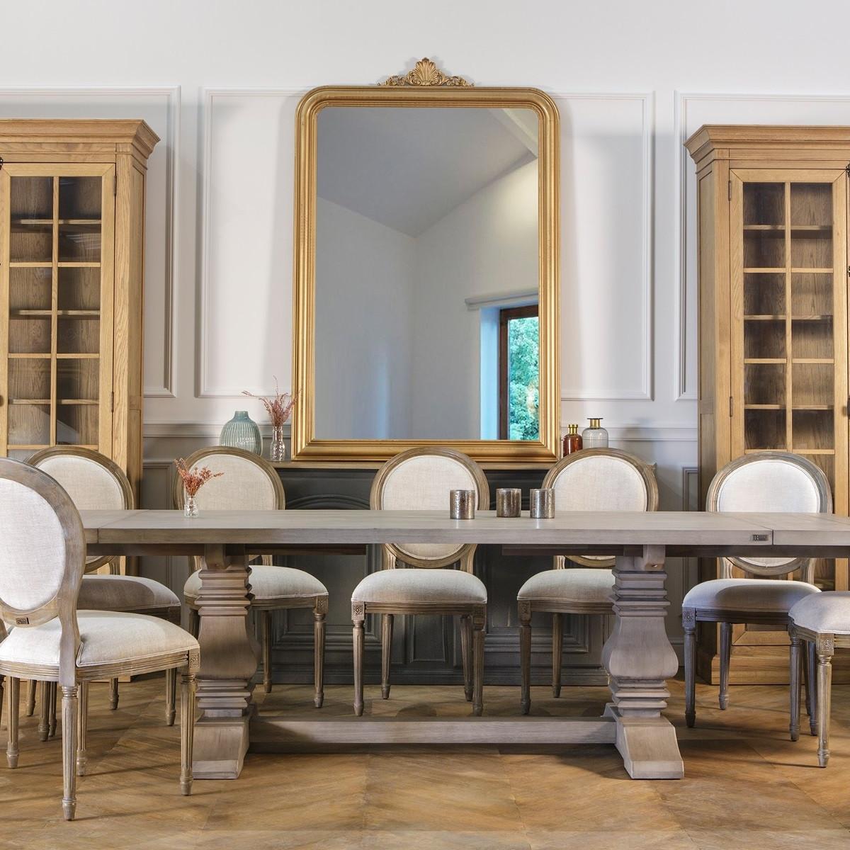 Grand Miroir D Entrée grand miroir en bois doré amandine