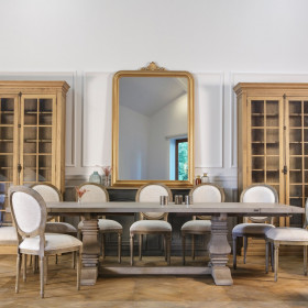 Table de salle à manger évolutive de 4 à 14 couverts