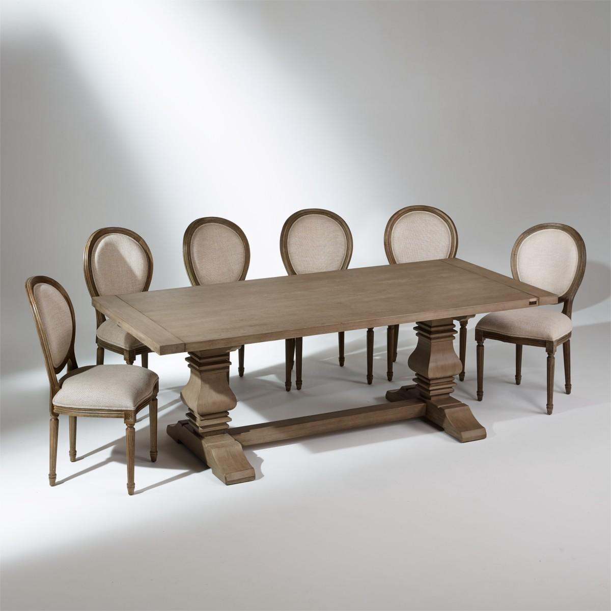 Table de salle manger rallonges penelope 10 14 couverts for Table de salle a manger 15 couverts