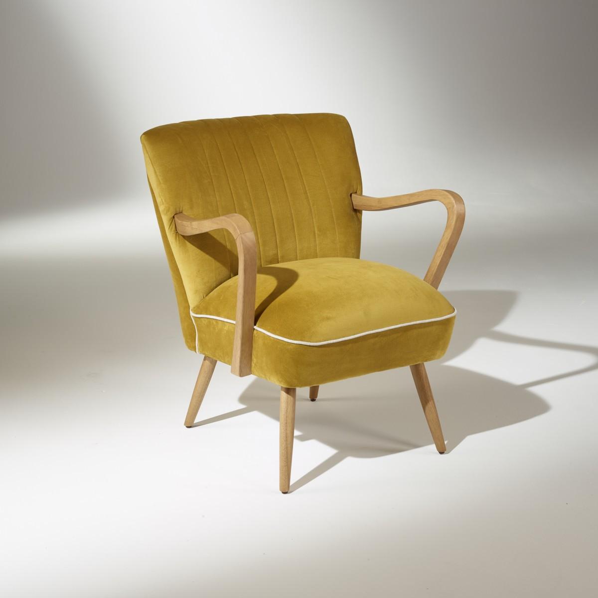 fauteuil vintage sixty jaune bleu rouge ou vert. Black Bedroom Furniture Sets. Home Design Ideas