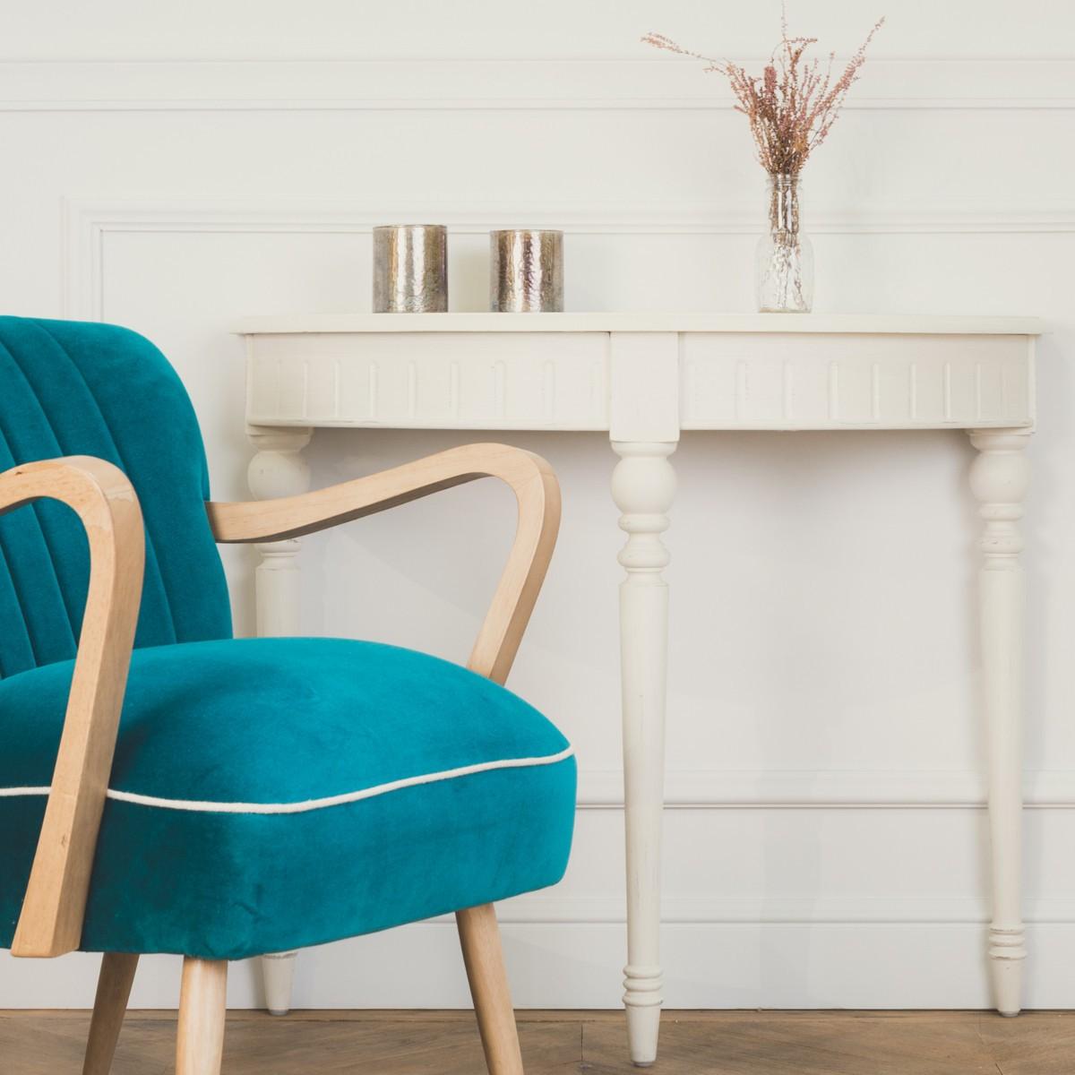 console demi lune olivier couleur blanc d 39 ivoire. Black Bedroom Furniture Sets. Home Design Ideas