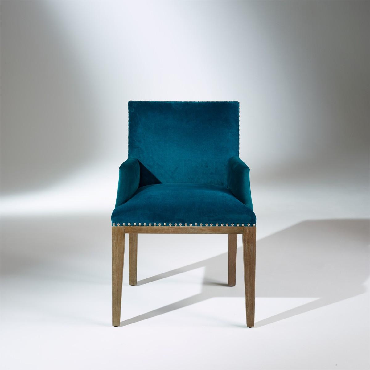 fauteuil de table kenza velours. Black Bedroom Furniture Sets. Home Design Ideas