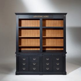 vitrine biblioth que en bois robin des bois. Black Bedroom Furniture Sets. Home Design Ideas