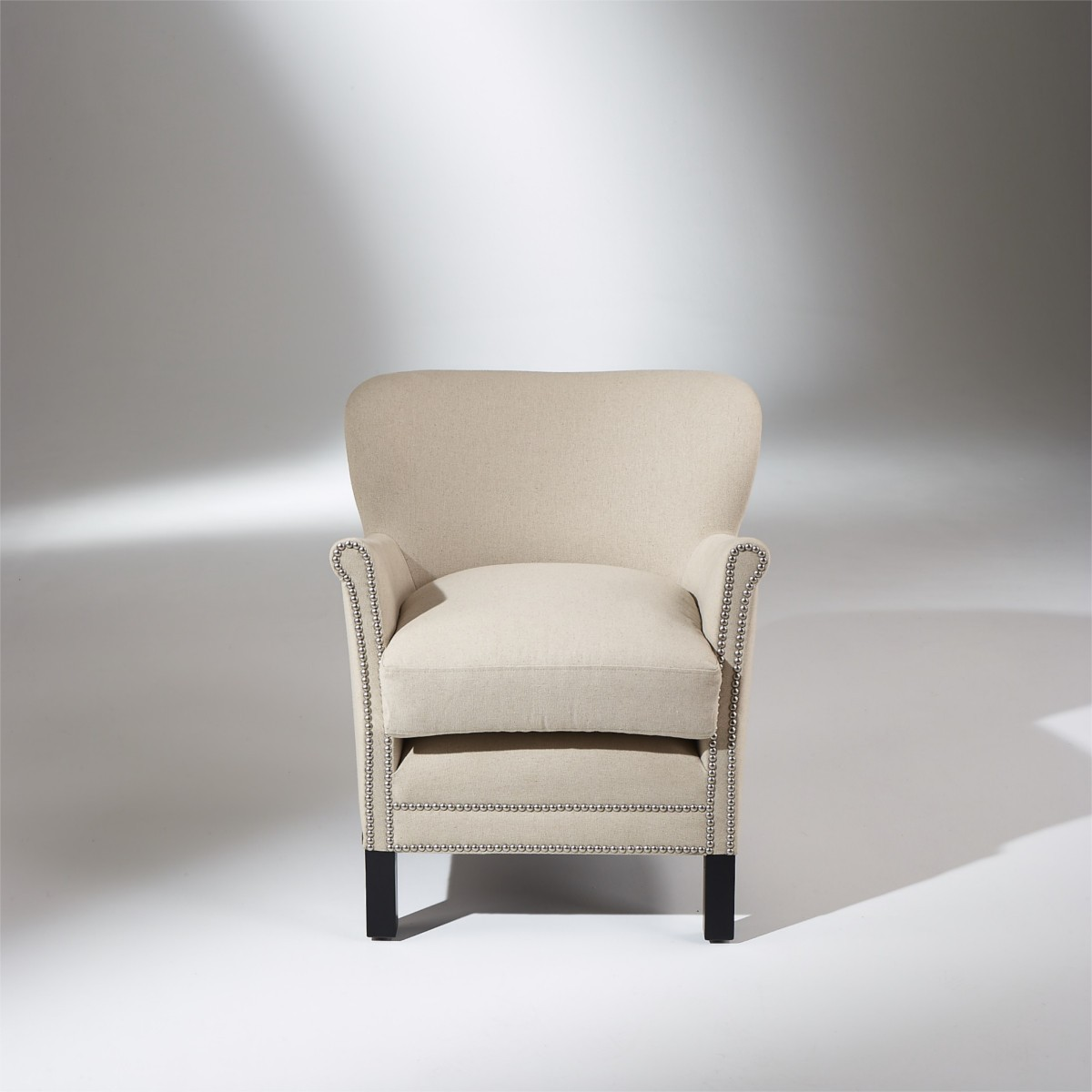 fauteuil confortable et design en lin max. Black Bedroom Furniture Sets. Home Design Ideas