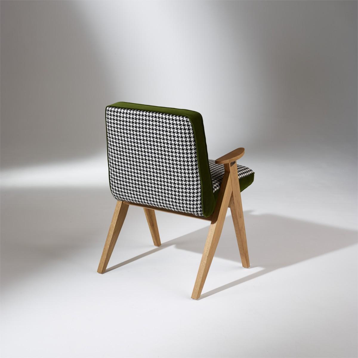 fauteuil billy pied de poule et velours. Black Bedroom Furniture Sets. Home Design Ideas