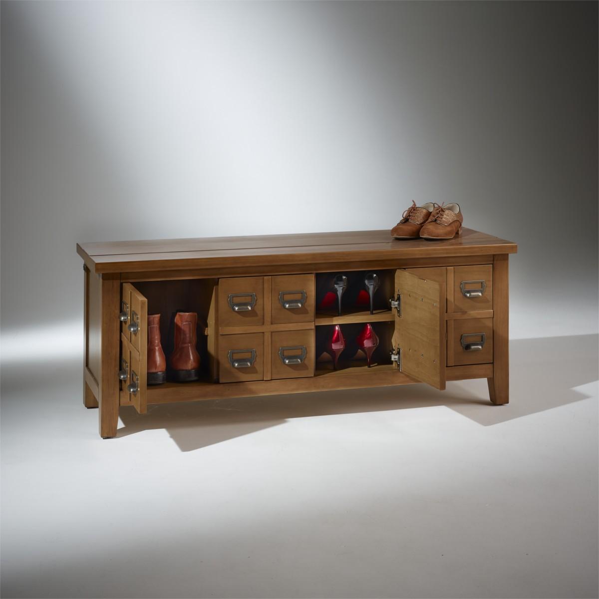 Meuble chaussures en bois poign es m tal jean - Robin des bois meubles ...