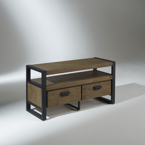 meuble tv industriel 2 tiroirs jack. Black Bedroom Furniture Sets. Home Design Ideas