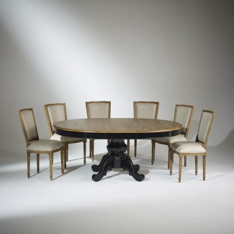 Table extensible 8 à 10 couverts, noire, AMBOISE