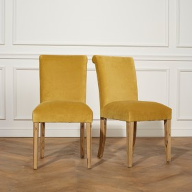 Chaises ALIX, Velours, le lot de 2
