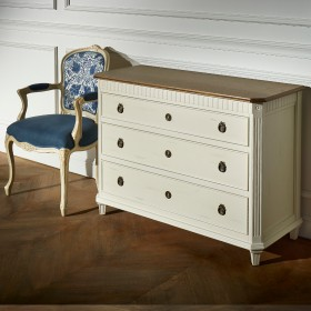 Commode, 3 tiroirs, HORACE, Shabby Blanc
