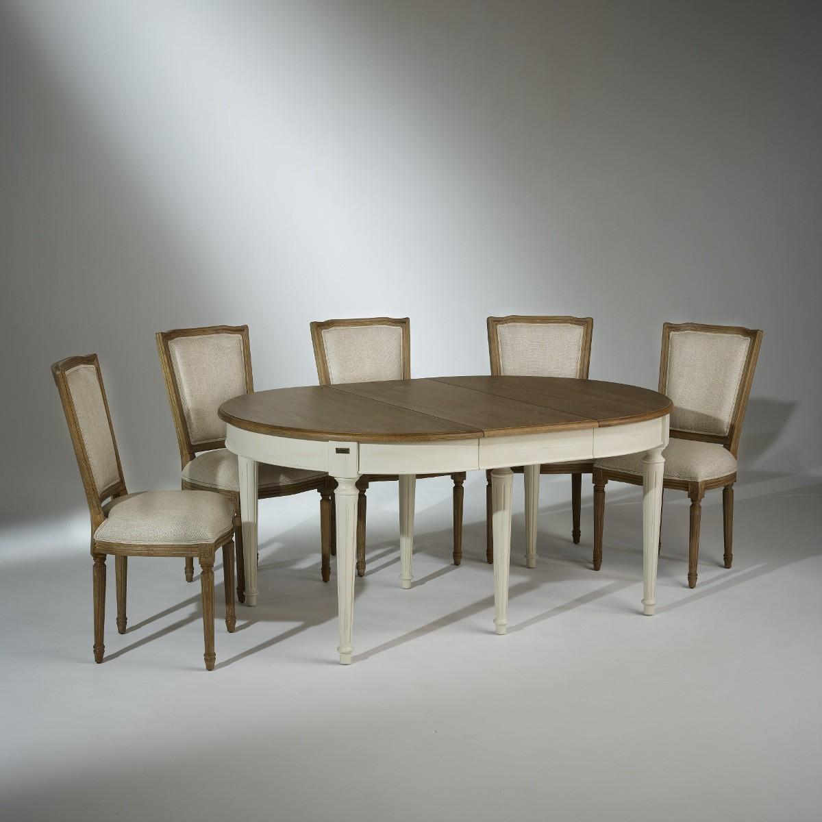 Ensemble table de salle manger florence et 6 chaises marie antoinette - Ensemble salle a manger ...