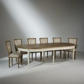 Ensemble Table de Salle à Manger et 6 chaises Marie Antoinette