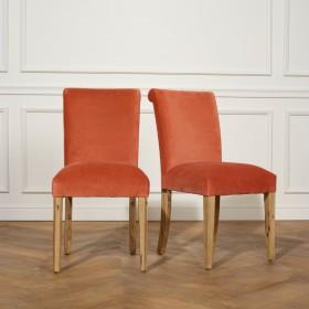 2 Chaises ALIX, Velours