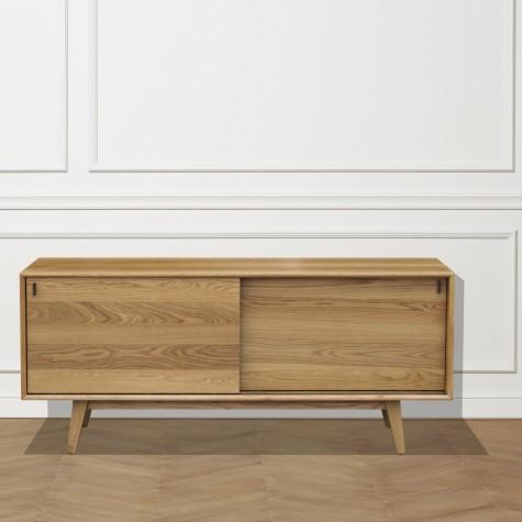 buffet ch ne 2 portes coulissantes mathilde. Black Bedroom Furniture Sets. Home Design Ideas