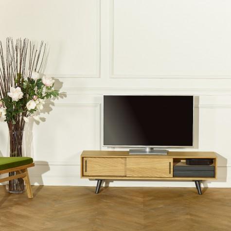 Meuble TV ALDWIN, chêne