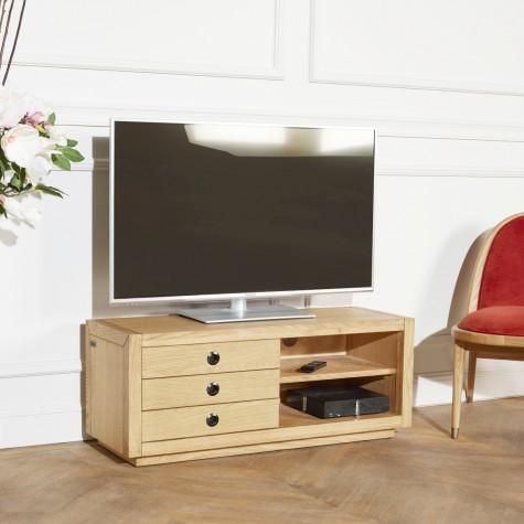 Meuble tv alston en ch ne Meuble robin des bois