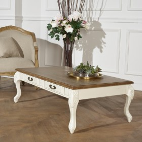 Table Basse Marianne Shabby chic, blanche