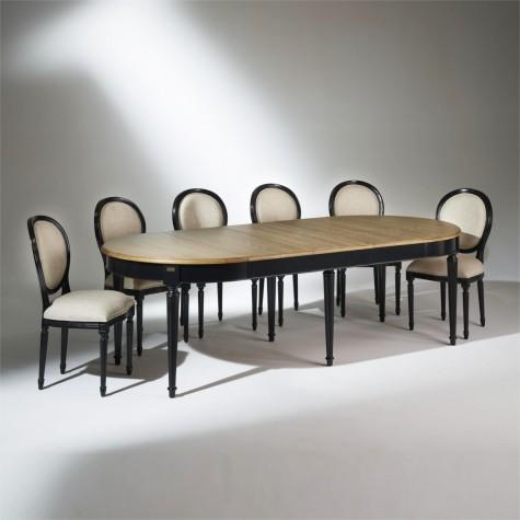 Table Salle A Manger Bois Florence Noire
