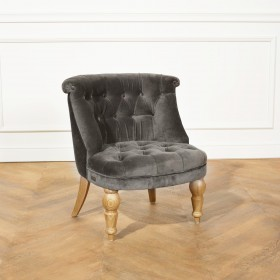Fauteuil crapaud JOYCE, Velours