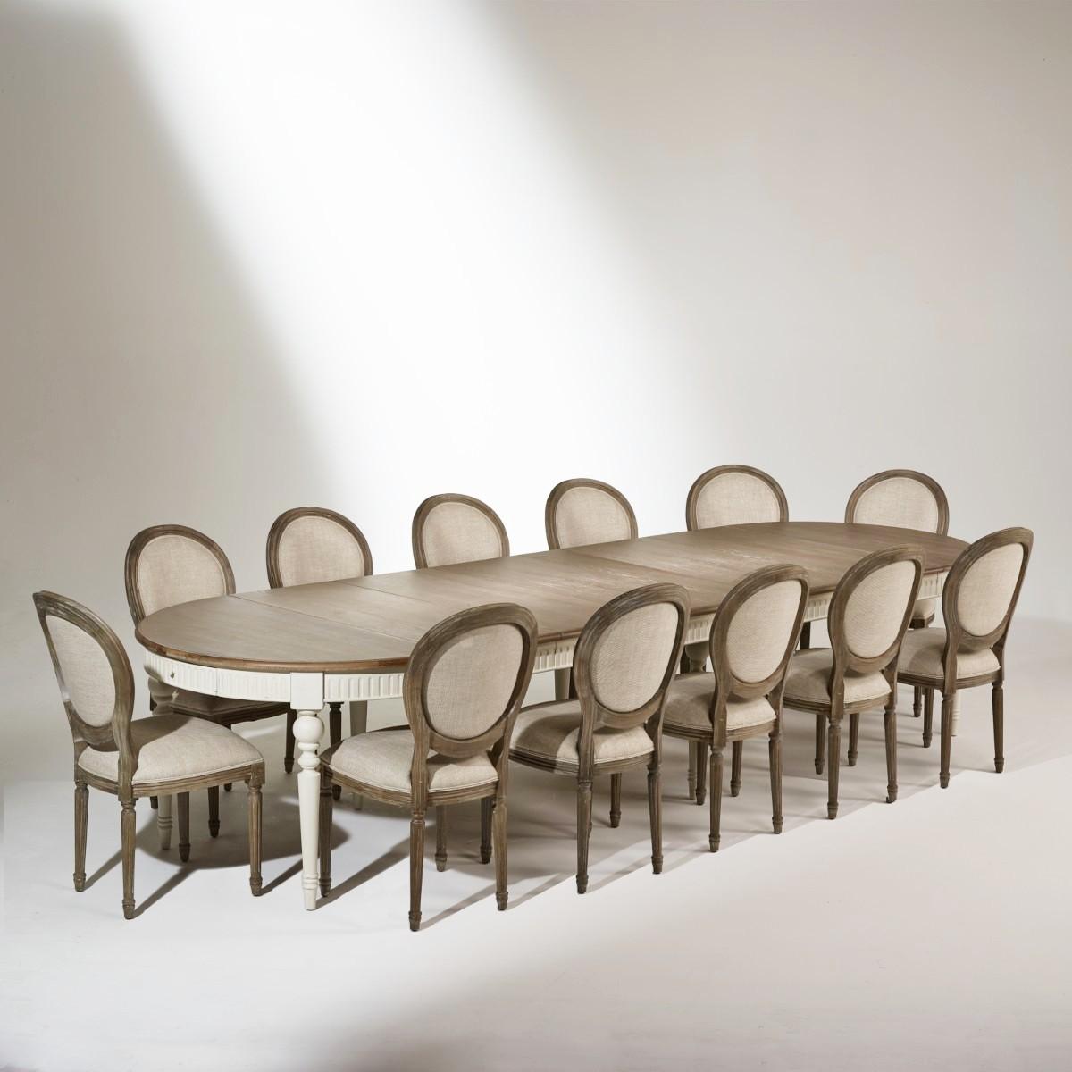 Table de salle à manger 4 à 16 couverts AUDE, extensible