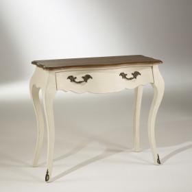 Console blanc d'ivoire, 1 tiroir, NINON robin des bois