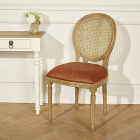 Chaise Medaillon en cannage