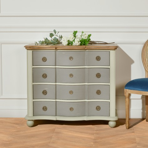 Diana Commode blanche et grise