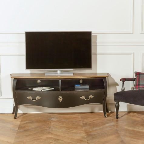 Meuble TV bois, 1 tiroir, 2 rangements ALIENOR
