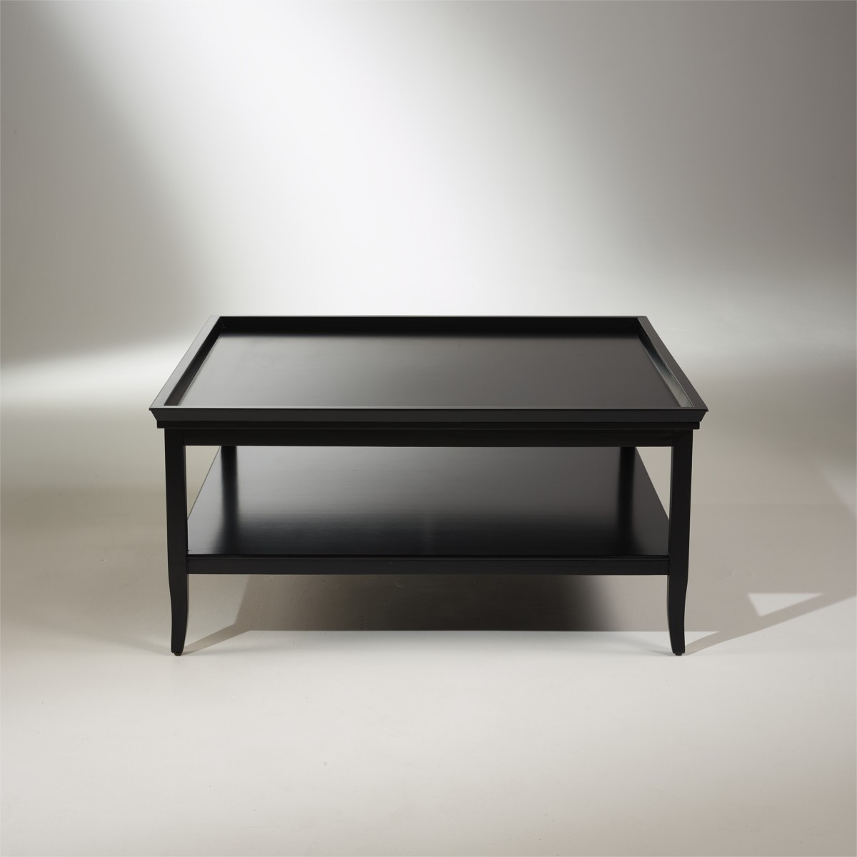 table basse carr e noire bois peint margot. Black Bedroom Furniture Sets. Home Design Ideas