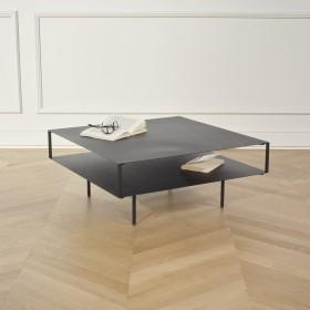 Table basse GREENWICH en métal noir