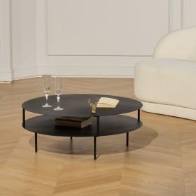 Table basse SOHO en métal noir