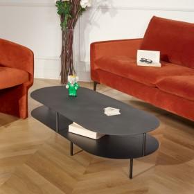 Table basse MURRAY en métal noir