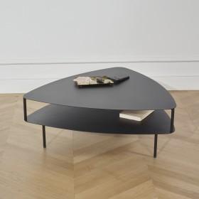 Table basse EAST SIDE en métal noir