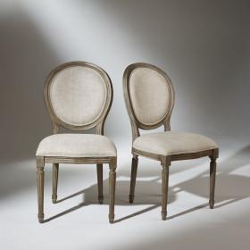 Chaise Médaillon lin