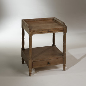 Table de nuit bois simple - Table de nuit rustique ...