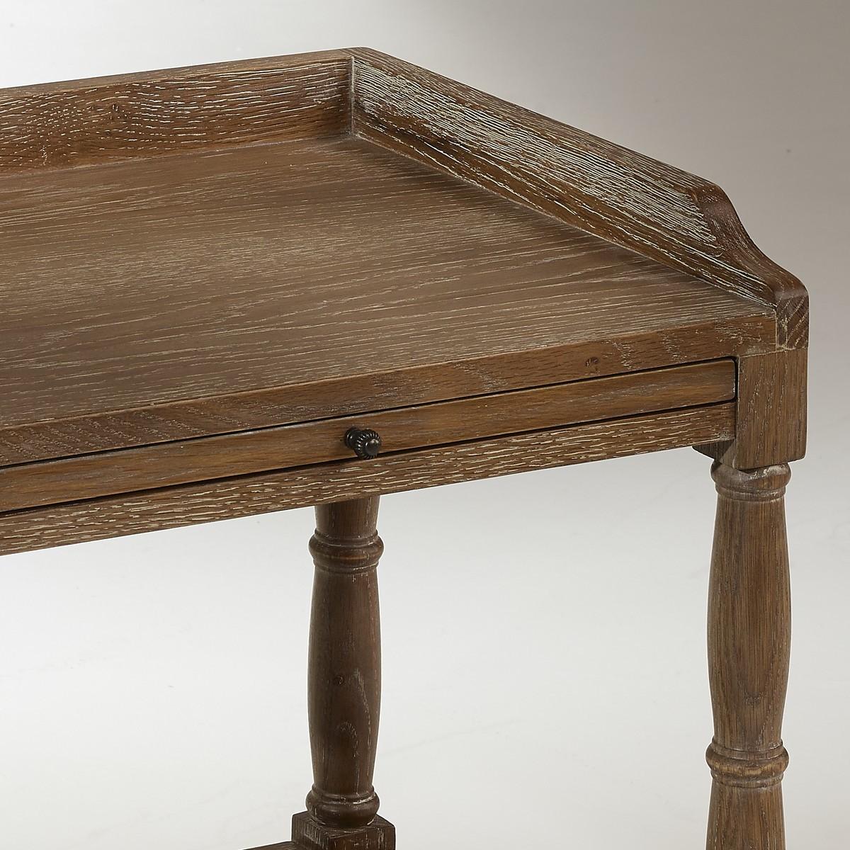 Table de nuit en ch ne chopin 1 tiroir - Table de nuit bois fonce ...