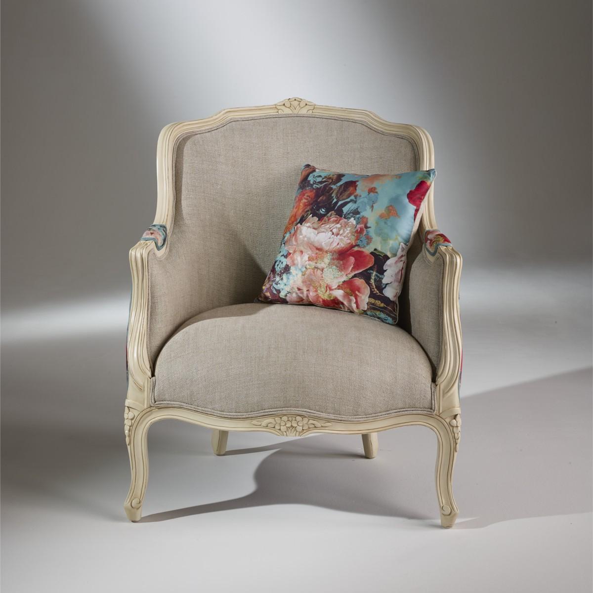 fauteuil berg re gris victor botanique tissu jean paul gaultier. Black Bedroom Furniture Sets. Home Design Ideas