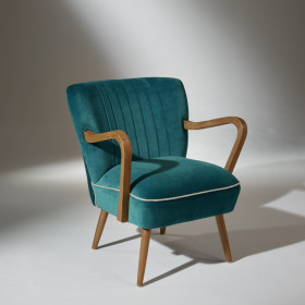 Fauteuil Vintage bleu turquoise