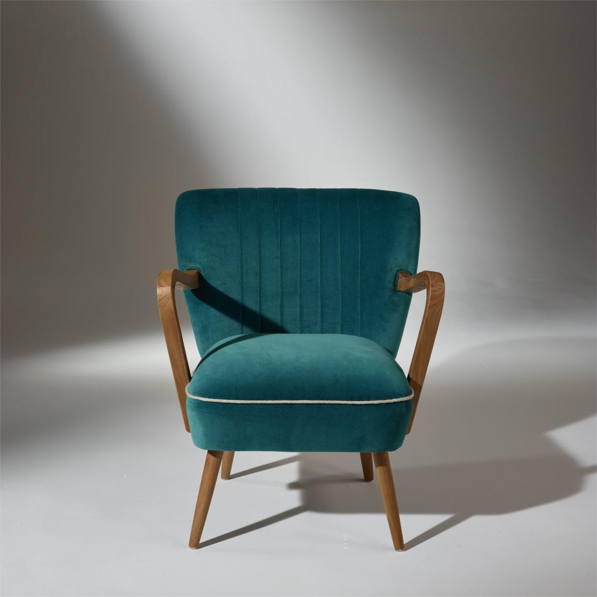 fauteuil bleu canard fauteuil juliette version 1 velours. Black Bedroom Furniture Sets. Home Design Ideas