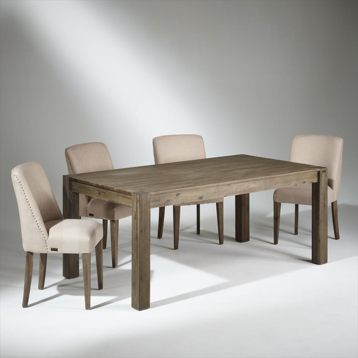 Table de salle à manger bois, 6 couverts, ENZO
