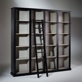 LUBERON, Large Bookshelf with ladder
